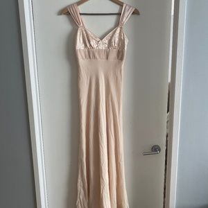 BCBG Silk and Velvet Blush Gown